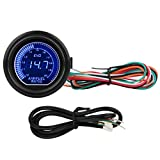 ECCPP Air/Fuel Ratio Gauge 2inch 52mm Universal Electronic Gauge Smoke Tint Len Digital Readout Suitable for Most Cars and Motors Without Needle