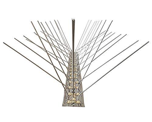 Taubenspikes 5 reihig auf 50 cm Edelstahlleiste, Taubenabwehr, Vogelabwehr - DIREKT VOM HERSTELLER