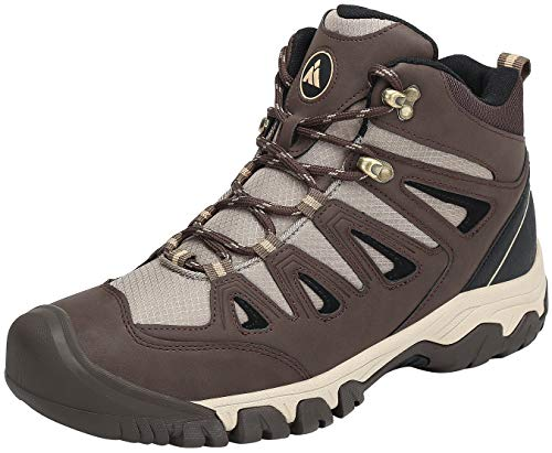 Mishansha Zapatillas Senderismo Hombre Trail Mount Botas Montaña Impermeables Zapatos Trekking Escalada Deportes de Exterior,marrón 44 EU
