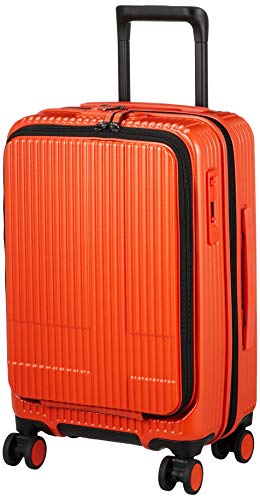 [イノベーター] スーツケース 1~3泊 | 多機能 | 機内持込サイズ | フロントオープン | INV50 保証付 38L 3.3kg オレンジピール
