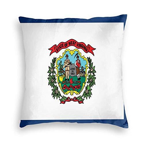 SUN DANCE West Virginia State Flag - Funda de almohada decorativa suave para sofá, coche, cama, 50,8 x 50,8 cm
