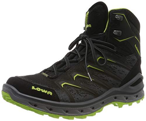 Lowa AEROX GTX MID, Chaussures de Randonnée Hautes Homme, Noir Nero Limone 9903, 46 EU