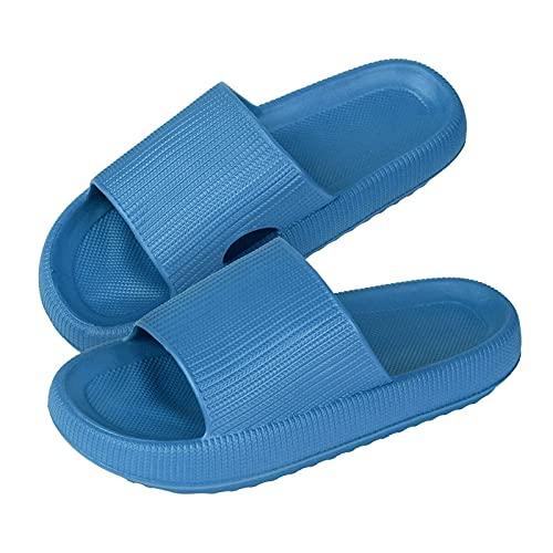 GYYlucky Hombres Mujeres Zapatillas Sandalias de Ducha de Cabeza Redonda para Dormir con Suela Gruesa Zapatillas de casa súper Suaves Sandalias de Ducha Unisex acogedoras con Suela Gruesa