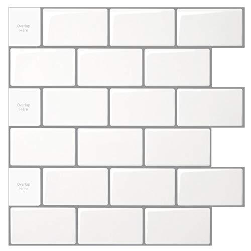 Art3d Perlmutt wei/ß Mini Quadratisch Mosaik Fliese 30,5/x 30,5/cm