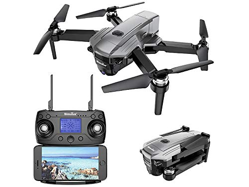 Simulus Drohne: Faltbarer GPS-Quadrocopter mit Brushless-Motor, 4K-Cam, WLAN und App Quadrocopter