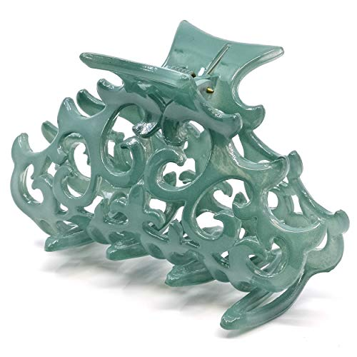 Camila Paris CP2403 French Hair Clips for Women, Large Green, Antique, Girls Hair Claw Clips Jaw Fashion Durable and Styling Hair Accessories for Women, Made in France