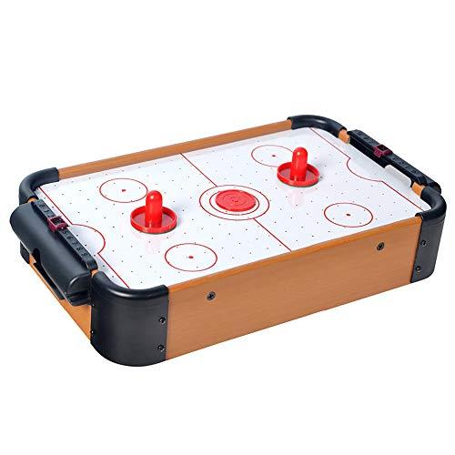 ZJY Tabletop Air Hockey - Indoor Sports Gaming Set - Elektrischer Lüftermotor mit 2 Paddeln, 2 Pucks Kompakt und tragbar - Geeignet für Familienspiel Kind Erwachsener