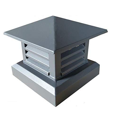 DCL Kaminabdeckung Regenhaube Schornsteinabdeckung In Aluminiumlegierung Kaminverschluss,Verschluss Für Alle Gängigen Ofenrohre 30 * 30cm