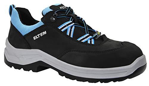 ELTEN Obuwie ochronne LOTTE aqua Low ESD S2, damskie, sneakersy, sportowe, lekkie, niebieskie, stalowe noski - rozmiar 41