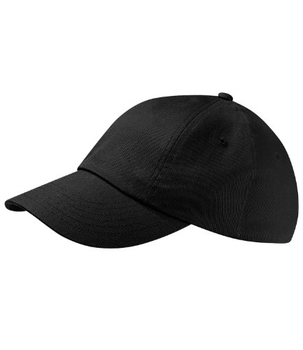 Beechfield Unisex Adults Low Profile Heavy Cotton Drill Cap Baseballkappe, Schwarz, One Size