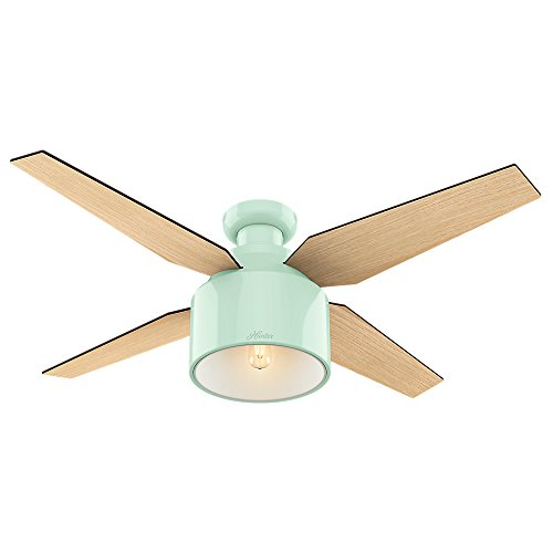 "HUNTER 59260 Cranbook Indoor Low Profile Ceiling Fan with LED Light and Remote Control, 52"", Bronze/Dark"