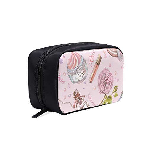 Comfortable Travel Bag Beautiful Retro Girl Perfume Bottle Wedding Makeup Bag Toiletires Travel Bag Best Makeup Bag Cosmetic Bags Multifunction Case Womans Overnight Bag
