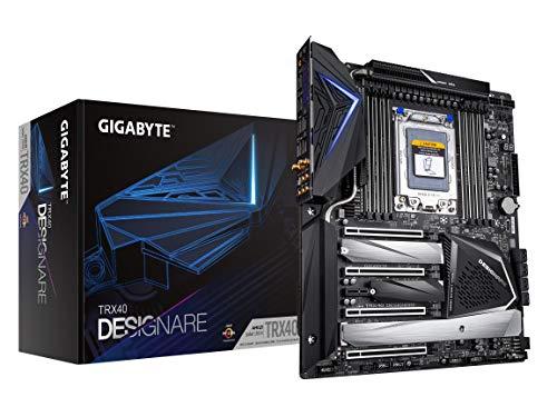 GIGABYTE TRX40 DESIGNARE (sTRX/AMD/TRX40/Direct 16+3 Phase VRM/Fins-Array Heatsink/Gen 4 AIC with 4 Extra M.2/ XL-ATX/Motherboard)