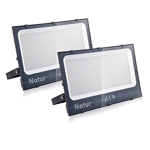2 pack 600W Focos LED Exterior, Iluminacion Exterior Floodli