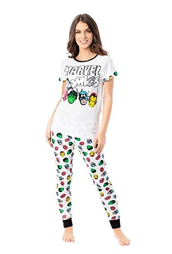 Womens Character Pyjama Set Marvel Silver Comics 8-10