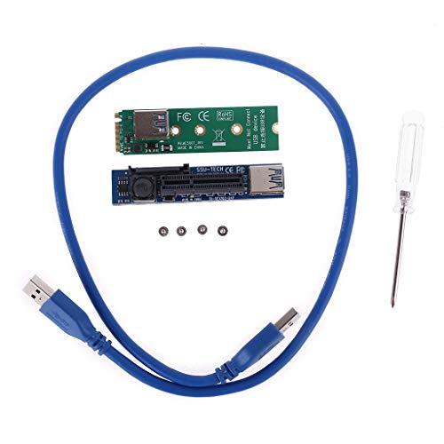 Meipai Raiser NVME M.2 auf PCI-E X4 Kartenverlängerungsanschluss, Erweiterungskarte, Grafikkarten, PCIE-Stecker, Verlängerung, mit vergoldeten Kontakten, 30 cm, USB 3.0 Kabel
