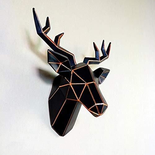 YDS Shop wanddecoratie, geometrie, creatieve hertenkop, grote dierenkop, stereo, hangende bar, woonkamer, decoratie, persoonlijkheid