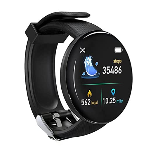 Daodan Smartwatch, Reloj Inteligente 1.44 Pulgadas Táctil Completa IP65, Reloj de Fitness para Mujer Hombre Niño,Pulsera Actividad para iOS Android 8 Modos Deportivos & Impermeable IP65 (Negro)