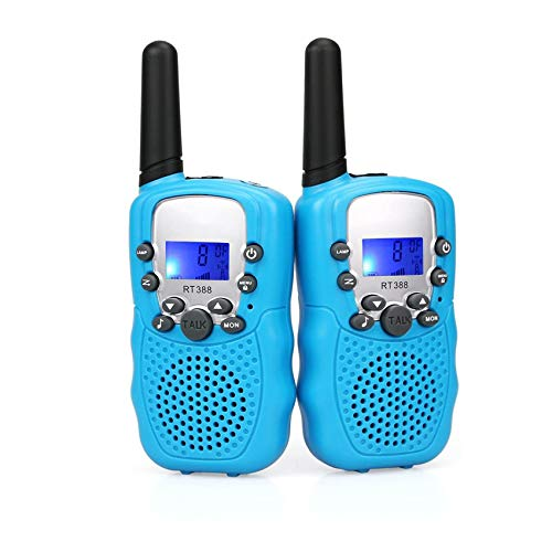 AILSAYA Children's Walkie-Talkie 3KM Range, Suitable for Children with Backlight LCD Flashlight, 22-Channel Radio, Very Suitable for Outdoor, Camping, Hiking,D