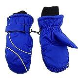 Kinder Skihandschuhe Fäustlinge wasserdicht und Winddicht,Schnee-Fausthandschuhe atmungsaktiv, 4-9 Jahre Jungen & Mädchen Warm Wasserdicht Fäustlinge (Blue)