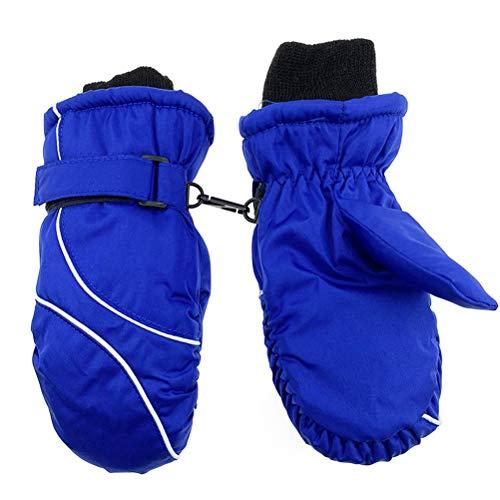 SUPYINI Kinder-Skihandschuhe, 1 Paar Kinder-Skihandschuhe für Mädchen Jungen Warme Winterhandschuhe...
