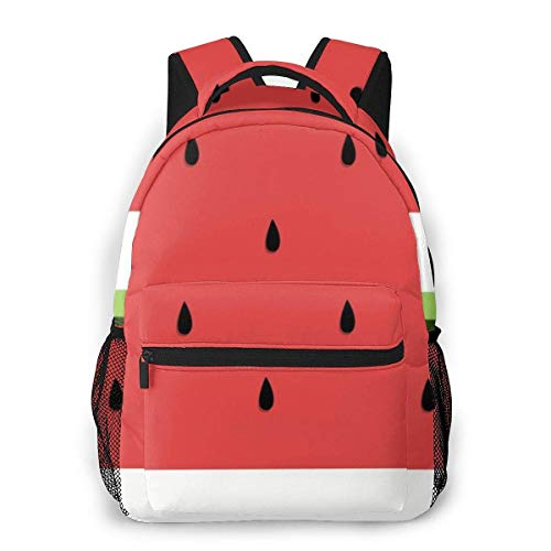 Lawenp Fashion Unisex Backpack Watermelon Clipart Slice Bookbag Lightweight Laptop Bag for School Travel Outdoor Camping