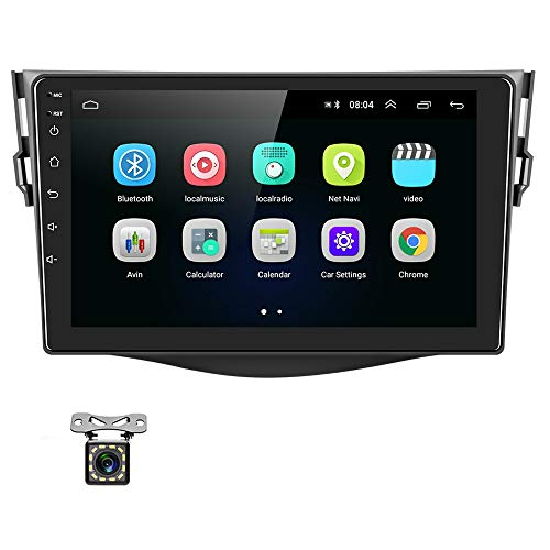 UNITOPSCI Android 9.1 Car Stereo for Toyota RAV4 2007-2011 Navigation Stereo Double Din Car Radio 9'' HD Touch Screen 1G 16G GPS Navigation WiFi Bluetooth FM Radio USB Mirror Link + Backup Camera