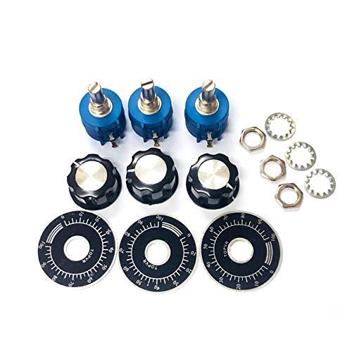 DONGMAISM Resistor 3590S 10K Multitivo Kit de potenciómetro Ajustable Ajustador de alámina 2W 3590S-2-103L 500 1K 2K 5K 20K 50K 100k Ohm + Tapa del botón (Resistance : 2K Ohm)