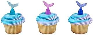 Mermaid Tail Cupcake Picks - 24 pc