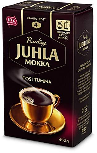 Paulig Juhla Mokka Tosi Tumma fine ground Kaffee 1 Pack of 450g
