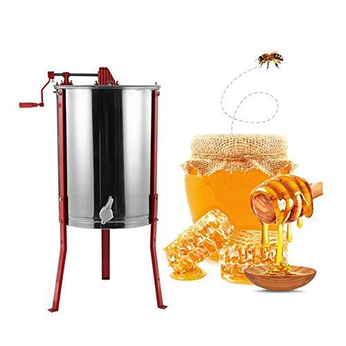 Cocoarm Honigschleuder Honig Extraktor 3/4 Waben Manual Edelstahl Honig Extraktor Bienenzucht Ausrüstung Imker für Anfänger Bienenzüchter Zubehör (4 Waben Manual Honigschleuder)