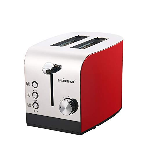 2 Scheiben-Toaster mit Extra Wide Slots für Bagels Waffeln, Brot, Törtchen, Hamburger-Brötchen oder Englisch Muffins |,Rot