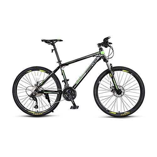 Bike, 26 Inch Thick Wheel Mountain Bike, Dual Disc Brake Bicycle, 27 Speed Mountain Trail Bike, for Adult, Teenagers, Anti-Slip, Adapt to Various terrains/Green / 172x95cm
