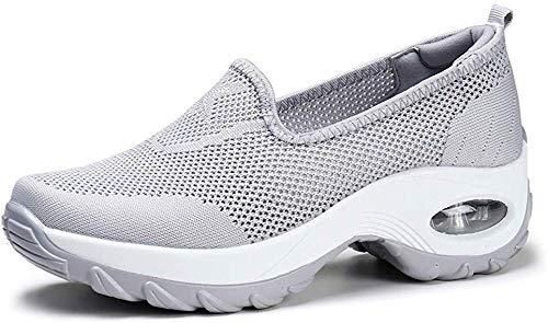Hezeisoar Damen Sneaker Atmungsaktiv Mesh Turnschuhe Bequem Sportschuhe Freizeit Laufschuhe Leichte Schuhe EU 37=CN 37