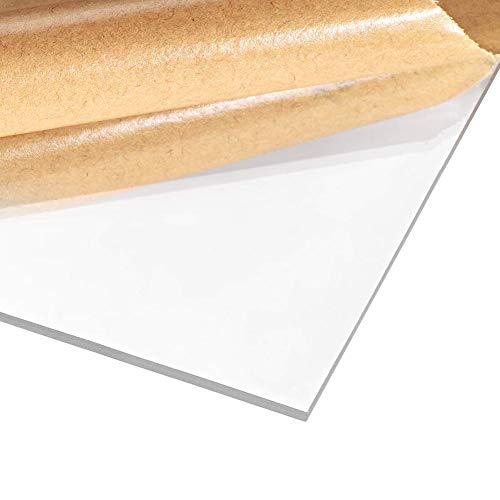 Fly-Fiber Scheda Perspex Trasparente in Vetro Acrilico Trasparente di plastica del Pannello in plexiglass per Esposizione DIY, 8 mm di Spessore,Size: 100x250mm