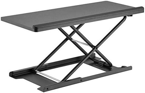 HumanCentric Keyboard and Mouse Stand Black Adjustable Riser for Standing Desks Desktops and product image