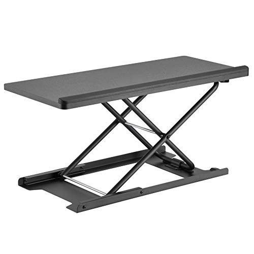 HumanCentric Keyboard and Mouse Stand (Black) – Adjustable Riser for Standing Desks/Desktops and Sit Stand Desks | Lifts Up to 13 inches in Height