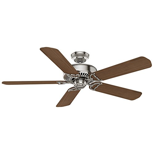 Casablanca Indoor Ceiling Fan, with wall control - Panama 54 inch, Brushed Nickel, 55067