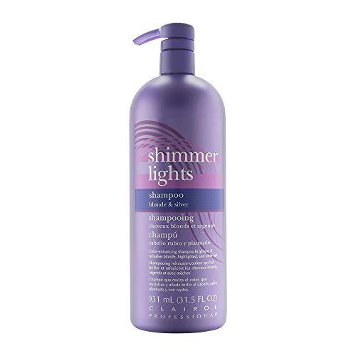 Clairol Shimmer Lights Shampoo for Blonde and Silver Hair, 31.5 Fl Oz