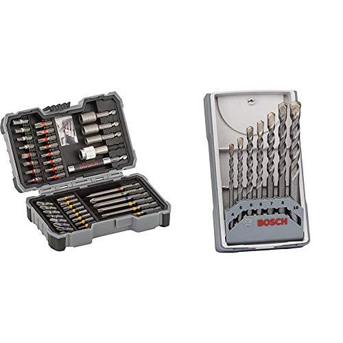 Bosch Professional 43tlg. Schrauber Bit Set (Zubehör für Elektrowerkzeuge) & Professional 7tlg. Betonbohrer Set (für Beton, Mauerwerk, Kalksandstein, Zubehör für Schlagbohrmaschinen)