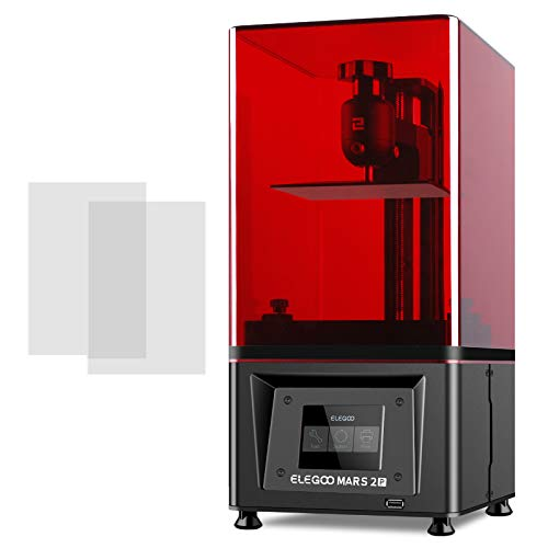 ELEGOO Mars 2 Pro Imprimante 3D Ecran LCD Monochrome 2K Source de Lumière LED UV Purificateur d'air au Charbon Actif Intégré pour Impression de Taille 129 * 80 * 160mm