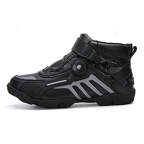 RTY Zapatillas de Ciclismo Antideslizantes, Zapatillas de Bicicleta de Carretera y Montaña Transpirables, Zapatillas Deportivas Asistidas,Negro,39