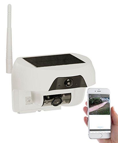 VisorTech Solar Ãœberwachungskamera: HD-IP-Kamera mit Akku & Solar-Panel, Bewegungssensor, Nachtsicht, IP55 (Ãœberwachungskamera mit Solarpanel)