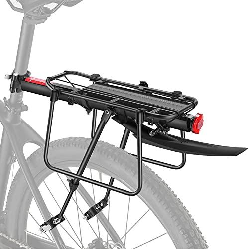toptrek Porte-bagages pour VTT en aluminium avec garde-boue et réflecteur - Montage rapide et blocage rapide -...