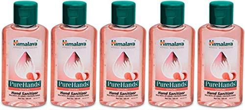 Himalaya PureHands Hand Sanitizer (Litchi) - 100 ml (Pack of 5)