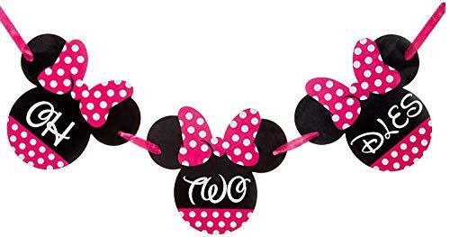 Minnie Mouse Birthday Banner - ONE Birthday Banner - OH TWO DLES! Minnie mouse party supplies - Minnie Mouse Theme Birthday Party Supplies - Minnie Mouse Party Decoration (Oh two dles banner)