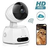 EIVOTOR IP Camera HD, Telecamera Sorveglianza WiFi Telecamera 960P Videosorveglianza Wireless di Sicurezza WiFi Videocamera con Visione Notturna/Sensore di Movimento Compatibile con iOS & Android EU