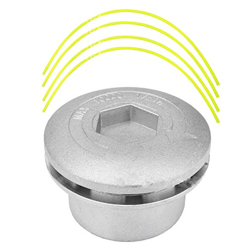 Kongqiabona-UK Cortadora de césped de aluminio para cortacésped, cortadora de césped, cabezal de cortacésped universal, herramienta de corte de césped, accesorio de repuesto