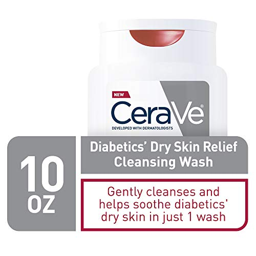 CeraVe Body Wash for Diabetics' Dry Skin | 10 Ounce | Diabetes Care With Urea for Hydration and Bilberry for Source of Antioxidant | Fragrance & Paraben Free