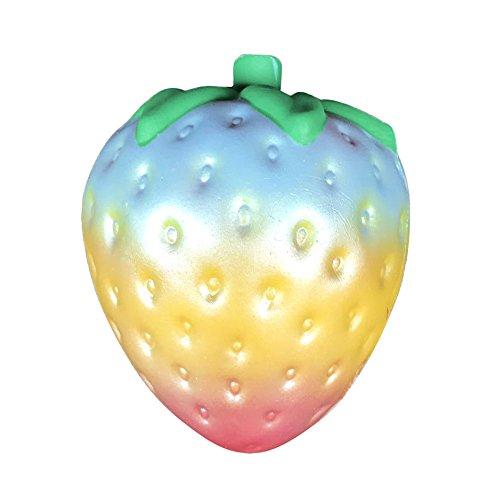 Spielzeug Erdbeere, Holeider Squishy Stress Soft Slow Steigende Handy Halterung Hand Kissen Spielzeug Geschenk zufällige (D)